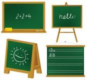 Blacboards da escola ilustração stock