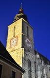Blach Church nightview, Brasov, Romania stock image
