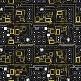 Blach mechanic pattern Royalty Free Stock Image