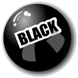 Black 3-Dimensional Ball. Black high quality sphere illustration Royalty Free Stock Images