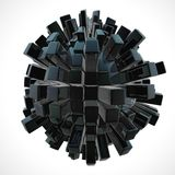 Black 3D abstraction Stock Photos