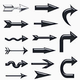 Black 3d arrow sign Royalty Free Stock Image