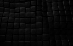Black 3d leather cube background texture Stock Photos