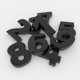 Black 3D numbers Royalty Free Stock Photography