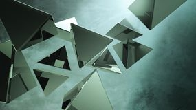 Black 3D pyramids Stock Images