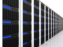 Black 3d server Stock Photography