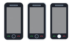 Black 3D smart phone Royalty Free Stock Photo