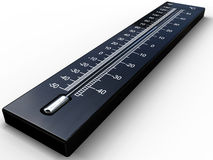 Black 3D thermometer Royalty Free Stock Photo
