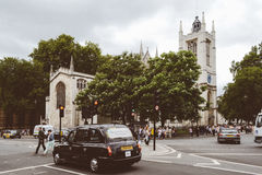 Black 4 Door Hatchback Infront of Cathedral during Daytime Stock Photos