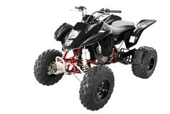 Black 4x4 quadbike isolated Royalty Free Stock Image
