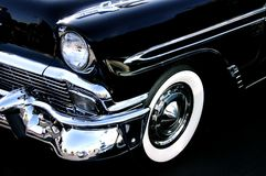Black 55. A beautiful vintage car from 1955 Royalty Free Stock Photo