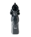 Black 9mm gun. Isolated over white stock image