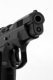 Black 9mm Handgun Royalty Free Stock Images