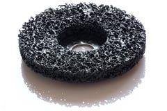Black abrasive Fine Grinding disc Stock Images