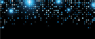Black abstract background. Black abstract background with blue dots. Vector illustration Stock Images