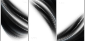 Black Abstract background high technology collection.  royalty free illustration