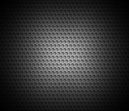 Black abstract background with metal background. Grid of round cells. Background with 3D effect for backgrounds, wallpapers, covers and your design Royalty Free Stock Images