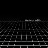 Black abstract background with a perspective. Stock Image
