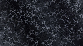 Black abstract background of small stars Royalty Free Stock Images