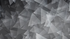 Black abstract background of small triangles Stock Photography