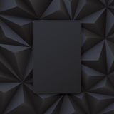 Black abstract background vector. Royalty Free Stock Images