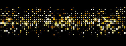 Black abstract banner. Stock Image