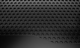 Black abstract bee hive hextagon texture background with copy sp. Ace 3d rendering Stock Image