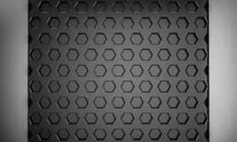 Black abstract bee hive hextagon texture background with copy sp. Ace 3d rendering Royalty Free Stock Image