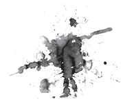 Black abstract blot Royalty Free Stock Photos