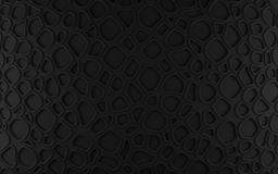 Black abstract cells net backdrop. 3d rendering geometric polygons Stock Image