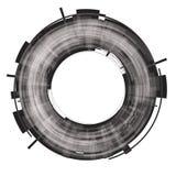 Black abstract circle. Raster. Royalty Free Stock Image