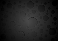 Black abstract circles background Royalty Free Stock Photography