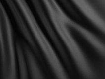 Black Abstract Cloth Folds Background. 3d render illustration Royalty Free Stock Photos