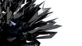 Black Abstract  crystallized background Royalty Free Stock Photos