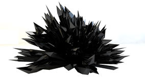 Black Abstract  crystallized background Royalty Free Stock Images
