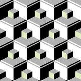 Black abstract cubes Stock Image