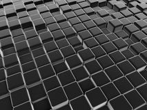 Black abstract cubes background Stock Images