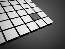 Black abstract cubes concept background Royalty Free Stock Photo
