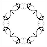 Black abstract decorative frame in vintage style Royalty Free Stock Photo