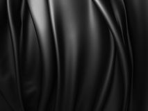 Black abstract dramatic cloth background. 3d render illustration Stock Photos