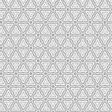Black Abstract Draw Flower Geometric Stars Grid Pattern Background Vector Illustration. Black Abstract Geometric Hexagonal Ornament Seamless Pattern Of Stars Vector Illustration