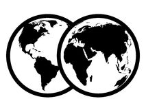 Black abstract earth symbol Stock Image