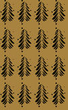 Black abstract firs on a color background. Vector illustration Stock Photos