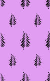 Black abstract firs with snow on a color background. Vector illustration. Black abstract firs with snow on a color background Royalty Free Stock Photo