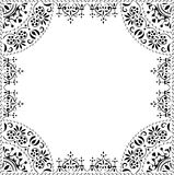 Black abstract frame on white Stock Images