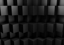 Black Abstract Geometric Low Poly Background for Business Presen Stock Images