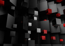 Black Abstract Geometric Low Poly Background for Business Presen Royalty Free Stock Image