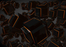 Black Abstract Geometric Low Poly Background  Royalty Free Stock Images