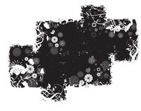Black Abstract Grunge Pattern Stock Photography