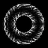 Black Abstract Halftone Circle Logo Design Element Royalty Free Stock Photo
